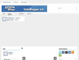 Main page screenshot of vidablogger.com.ar