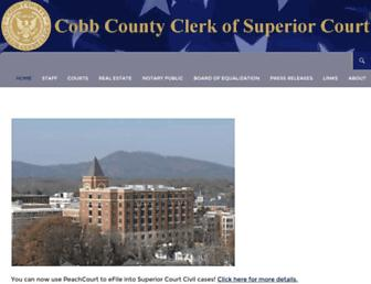 Main page screenshot of cobbsuperiorcourtclerk.org