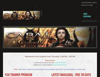 cabalphtrainer.weebly.com screenshot