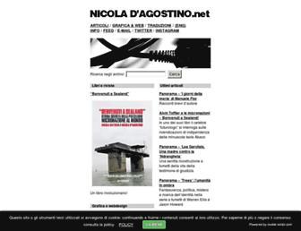 Main page screenshot of nicoladagostino.net