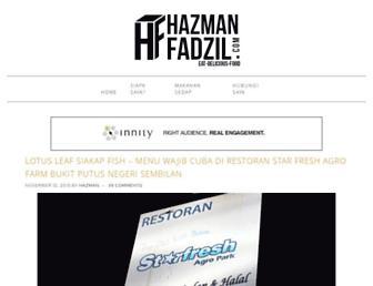hazmanfadzil.com screenshot