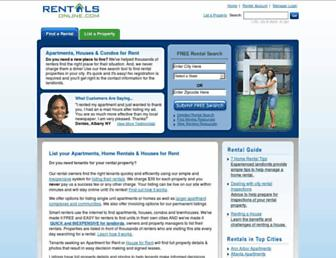 rentalsonline.com screenshot