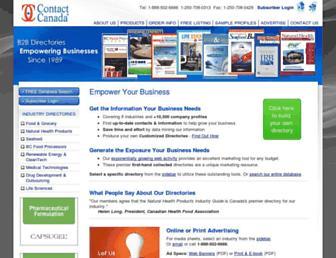 contactcanada.com screenshot