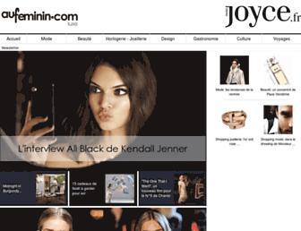 Main page screenshot of joyce.fr