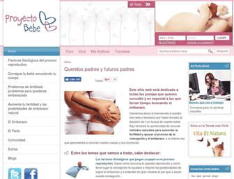 proyecto-bebe.es screenshot