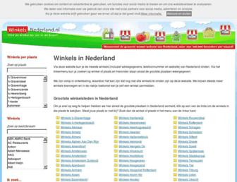 Main page screenshot of winkels-nederland.nl