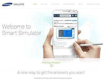 samsungsimulator.com screenshot