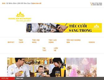 nhahanghuongsen.com.vn screenshot
