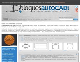 bloquesautocad.com screenshot