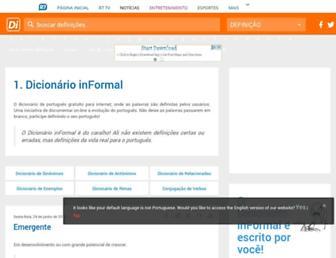 dicionarioinformal.com.br screenshot