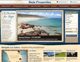 bajaproperties.com screenshot