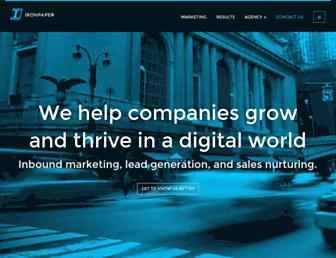 ironpaper.com screenshot