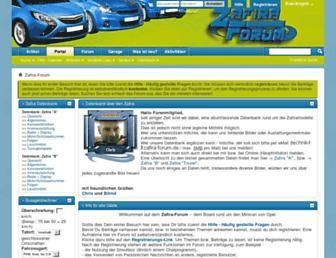 Main page screenshot of zafira-forum.de