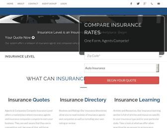 insurancelevel.com screenshot