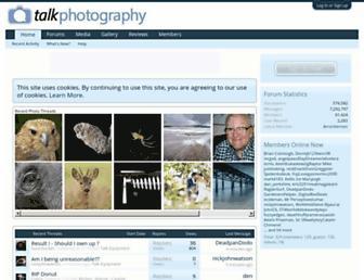 Main page screenshot of talkphotography.co.uk