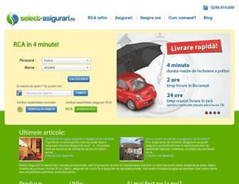 select-asigurari.ro screenshot