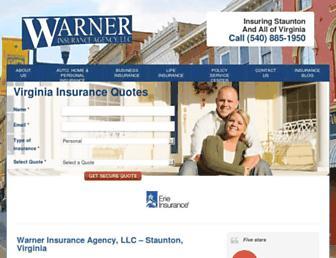 warnerinsurance.net screenshot