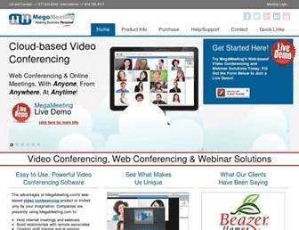 megameeting.com screenshot