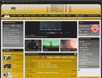 Main page screenshot of pconly.nl