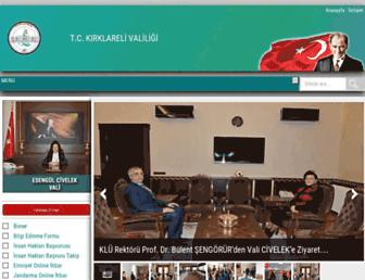 kirklareli.gov.tr screenshot