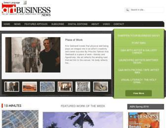 artbusinessnews.com screenshot