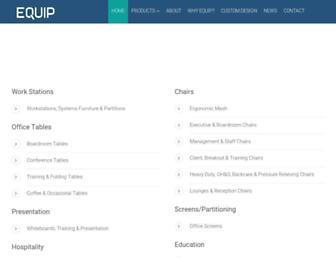 equipofficefurniture.com.au screenshot