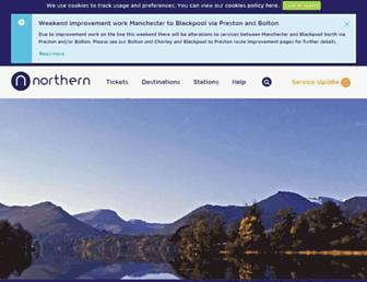 northernrailway.co.uk screenshot