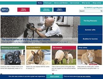 Thumbshot of Rspca.org.uk