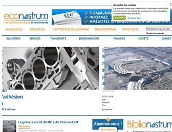 Main page screenshot of econostrum.info