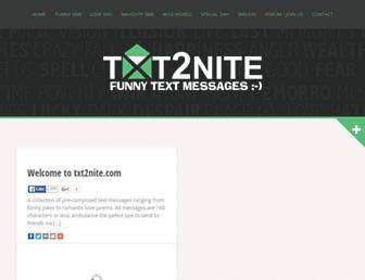 txt2nite.com screenshot