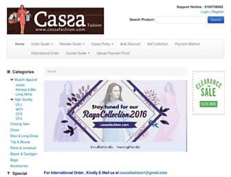 cassafashion.com screenshot