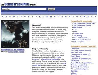 soundtrackinfo.com screenshot