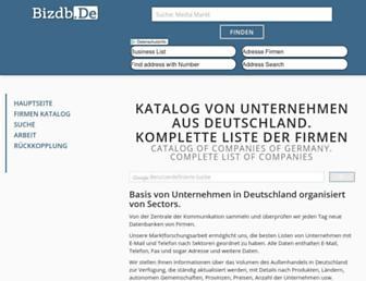 bizdb.de screenshot