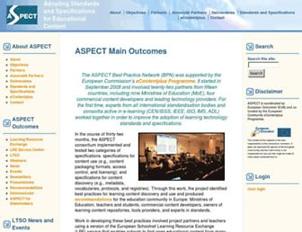 aspect-project.org screenshot