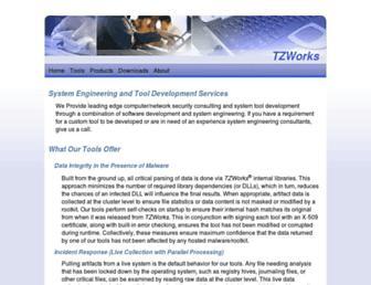 tzworks.net screenshot
