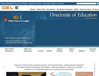 Main page screenshot of edudel.nic.in