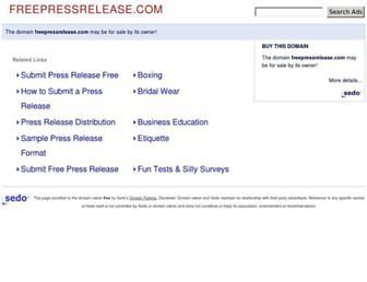 Thumbshot of Freepressrelease.com