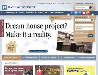 washtrust.com screenshot