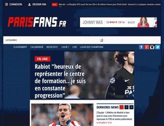 parisfans.fr screenshot
