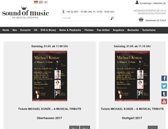 soundofmusic-shop.de screenshot
