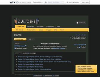 wowwiki.wikia.com screenshot