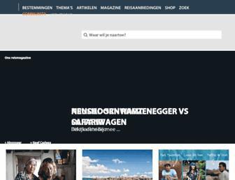 Main page screenshot of columbusmagazine.nl