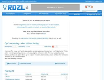 Main page screenshot of rdzl.nl