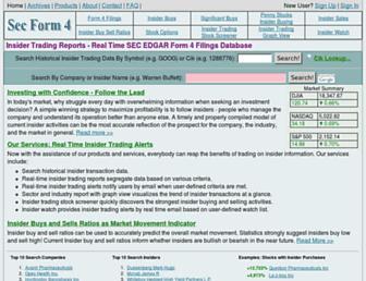 secform4.com screenshot