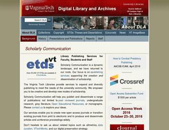 scholar.lib.vt.edu screenshot