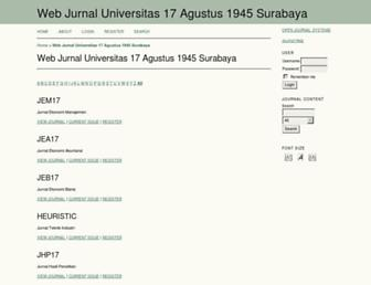 jurnal.untag-sby.ac.id screenshot