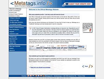 Thumbshot of Metatags.info