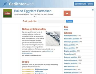 Main page screenshot of gedichtenweb.nl