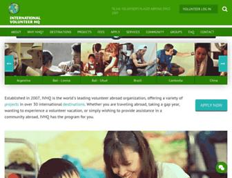 volunteerhq.org screenshot