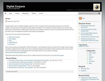 digitalcorpora.org screenshot